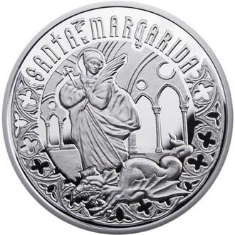 Серебряная монета СВЯТАЯ МАРГАРИТА 2011 серии «Святые Помощники»