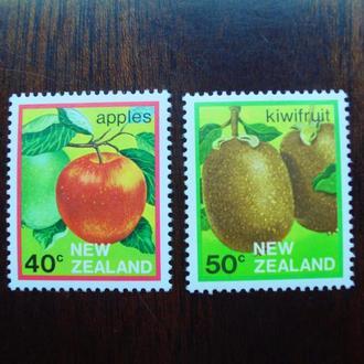 Новая Зеландия.1983г. Флора. Фрукты. Киви и яблоко. MNH