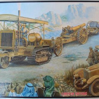 Артиллерийский тягач Holt 75 с 8-дюймовой гаубицей от Roden в 1:35