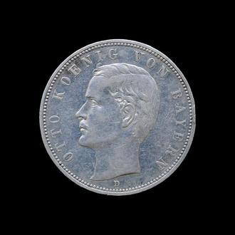 5 Марок 1907 D Отто,(40) Бавария