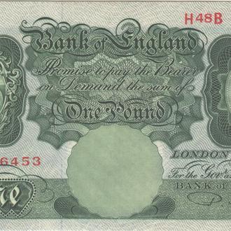 Великобритания 1 фунт 1949-1955 г. в аUNC