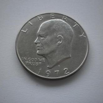 Монета США. Америка. доллар 1 долар 1972 року. Літера D. Велика, тяжка монета. Відмінний стан !!!