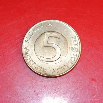 5 толаров 1993 г Словения