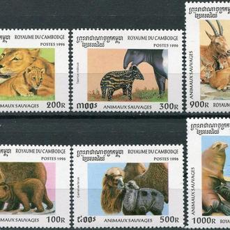 фауна Камбоджа-1996 животные с детенышами