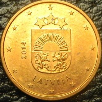 1 євроцент 2014 Латвія