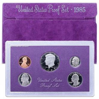 Годовой набор монет США 1985 год (Пруф) (S)