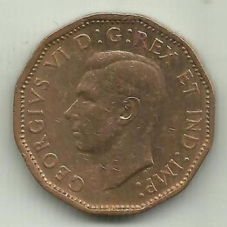 Канада Георг VI WWII 5 центов 1943 томпак XF-