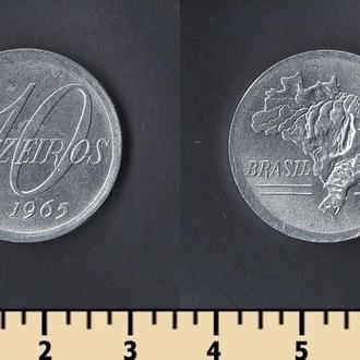 Бразилия 10 крузейро 1965
