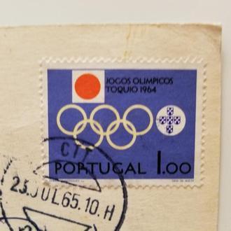 Марка Португалия 1964 год + Открытка