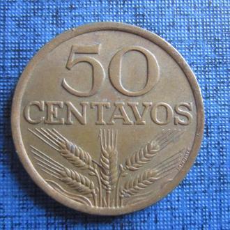 Монета 50 сентаво Португалия 1975