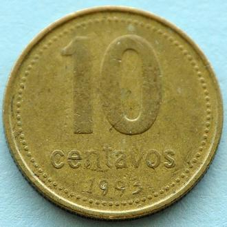 (А) Аргентина 10 сентаво, 1993