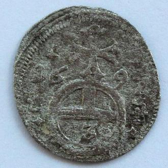 3 пфенинга 1697г, Силезия, Леопольд I Габсбург