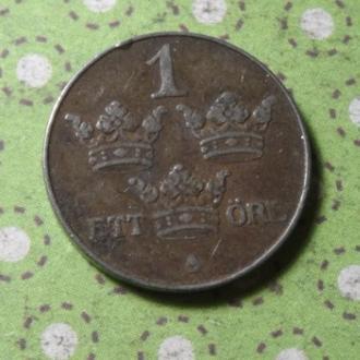 Швеция 1949 год монета 1 эре !