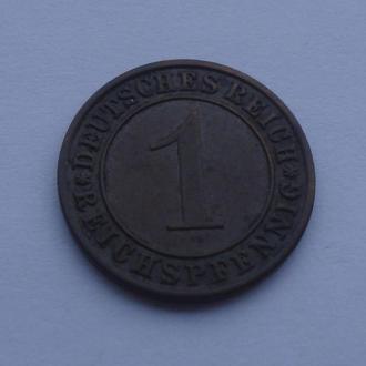 1934 г - 1 пфеннинг Германии,отличный
