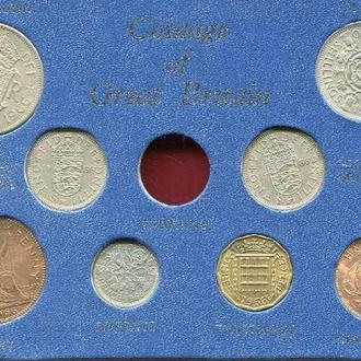 Великобритания 1966 набор аUNC пластик