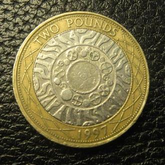 2 фунта 1997 Британія