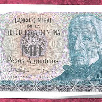 Боны Америка Аргентина 1000  песо аргентинос 1985-89 г.