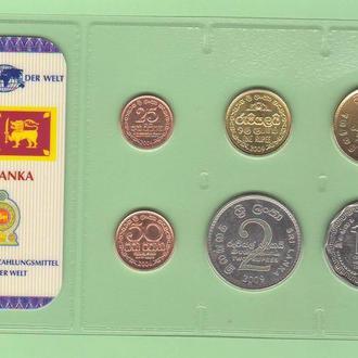 Набор монет ШРИ-ЛАНКА блистер запайка пластик