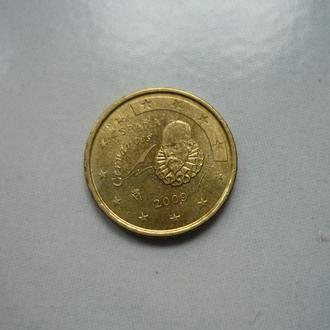 Испания 10 евроцентов 2009 состояние
