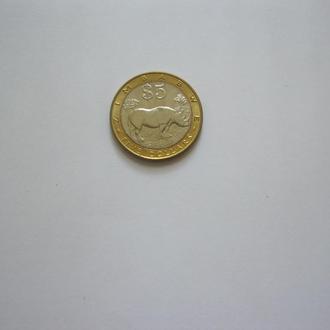 Зимбабве 2002 год. UNC