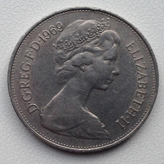 Великобритания 10 пенсов 1969 год