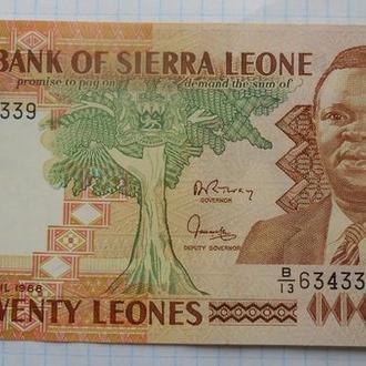 Сьерра-Леоне 20 леоне 1988 год.