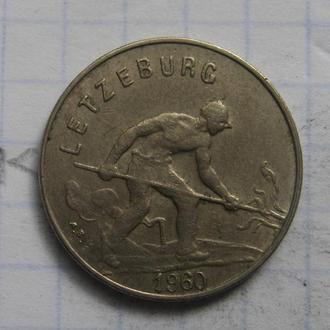 ЛЮКСЕМБУРГ, 1 франк 1960 года.