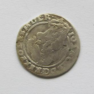6 грошей AT Ян Казимир 1666г