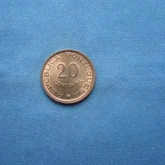 Мозамбик 20 сентаво 1974 год