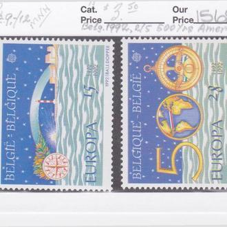 Бельгия 1992 ХРИСТОФОР КОЛУМБ МОРЕПЛАВАТЕЛЬ ПАРУСНЫЙ КОРАБЛЬ ОТКРЫТИЕ АМЕРИКИ Mi.2506-7** EUR 9