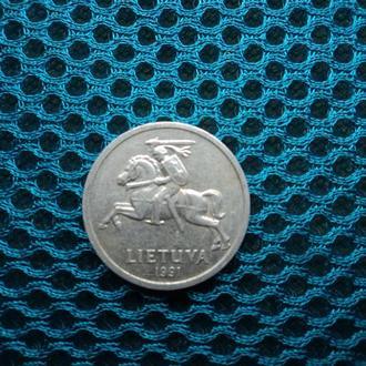 Литва 1991г. 1 цент.