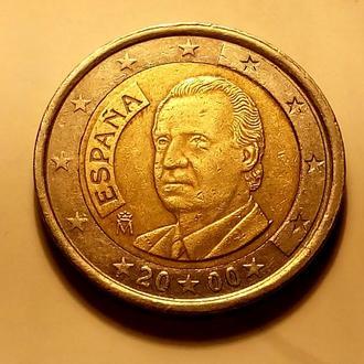 2 евро 2000 года, Испания  - а