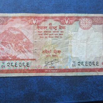банкнота 20 рупий Непал