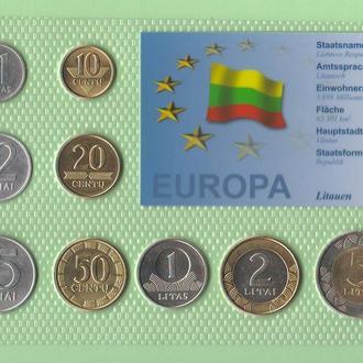 Набор монет ЛИТВА блистер запайка пластик