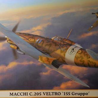"Сборная модель самолета Macci C.205 Veltro ""155 Gruppo"" 1:48 Hasegawa 07405"