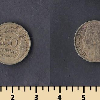 ФРАНЦИЯ 50 САНТИМОВ 1933