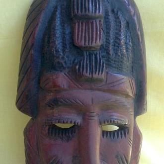 Маска деревянная *Африканец*. Красное дерево.