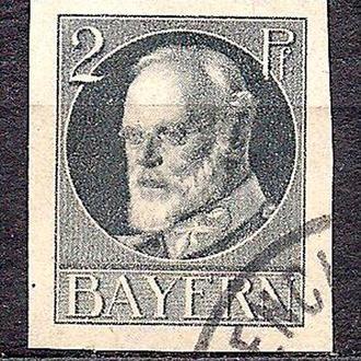 Бавария, немецкие земли, 1916-20 гг., стандарт, король Людвиг 3