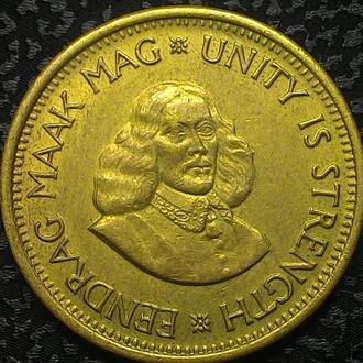 Южная Африка (ЮАР) 1/2 цента 1963 год  Латунь, дм. 25,5 мм, вес 5,6 г