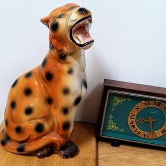 Леопард напольный керамика статуэтка