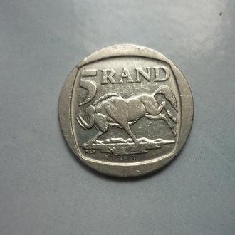 ЮАР 5 рэндов 1995 фауна