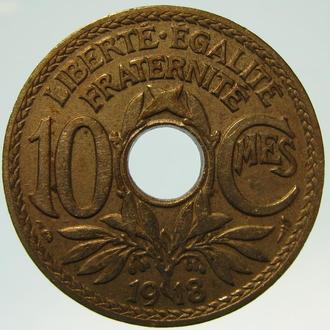 Франция 10 сантимов 1918
