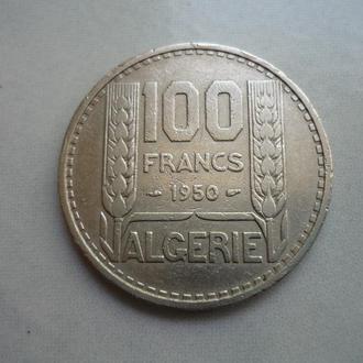 Алжир 100 франков 1950 VF=3$