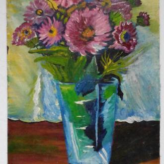 Цветы в вазе 1970егг. СССР