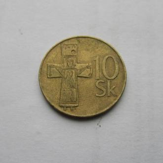 10 крон Чехия 1994 год