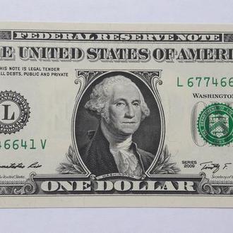 """США 1 доллар 2009 Серия """"L"""""""