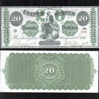 США _ 20 $ _ 1861 г. _ копия