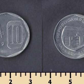 Аргентина 10 аустраль 1989