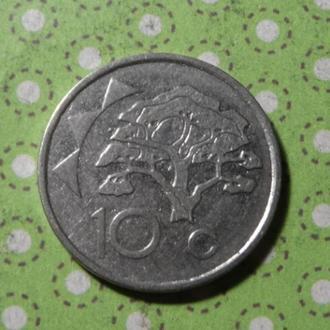 Намибия 1993 год монета 10 центов !