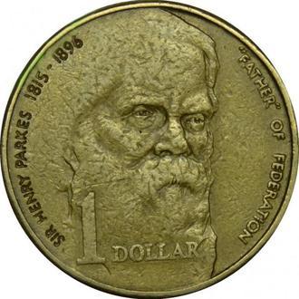 Австралия 1 доллар 1996г «отец федерации»